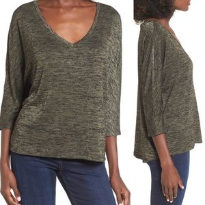 Nordstrom Leith V-neck slouchy dolman sleeve top